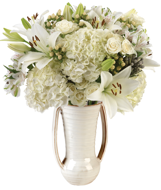 Linen White Bouquet - Calyx Flowers, Inc