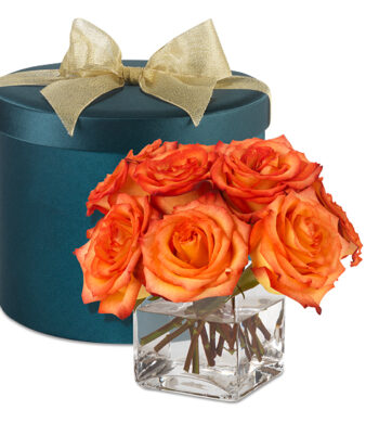 Grand Fete Birthday Hatbox Bouquet