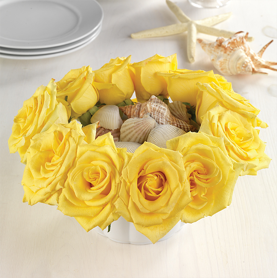 Yellow Rose Bowl Centerpiece