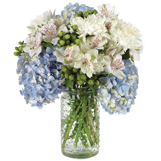 Biscayne Bay Bouquet with signature glass vase