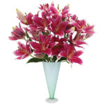 Kissproof Lilies with vase