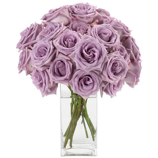 Parisian Roses signature glass vase