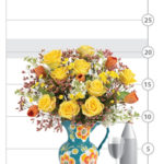 Sunny Rose & Tulip Bouquet shown to scale