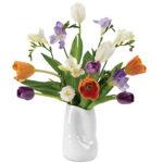 Spring Nouveau Bouquet with vase