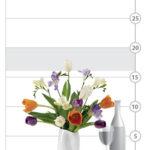 Spring Nouveau Bouquet shown to scale