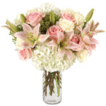 Park Place Bouquet with signature glass vase