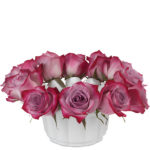 Deep Purple Rose Bowl Centerpiece