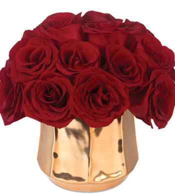 Red Long Stemmed Roses with vase