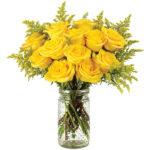 Honey Rose Bouquet with signature glass vase