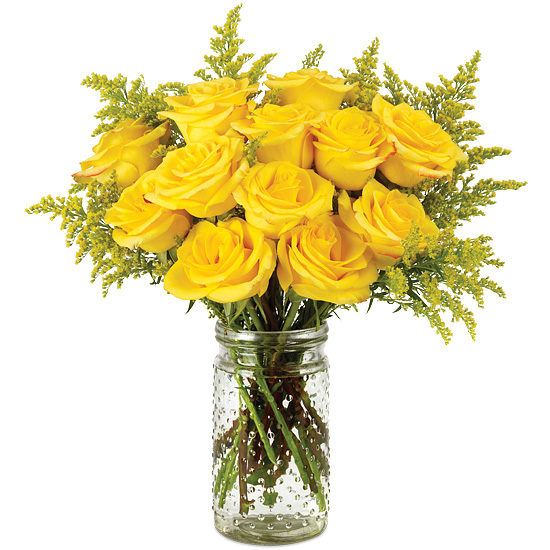Honey Rose Bouquet with signature glass vase