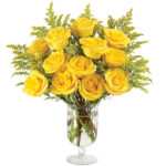 Honey Rose Bouquet with vase