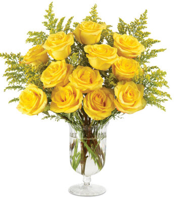 Honey Rose Bouquet with vase
