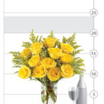 Honey Rose Bouquet shown to scale