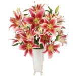 Loving You Lilies with vase