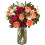 Weekend Getaway Bouquet with signature glass vase