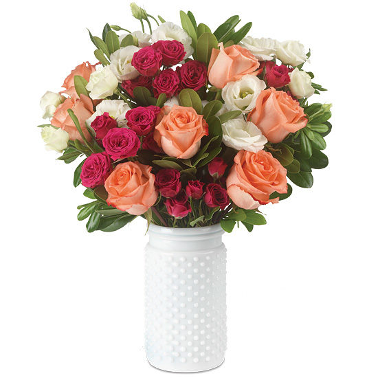 Weekend Getaway Bouquet with vase