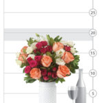 Weekend Getaway Bouquet shown to scale