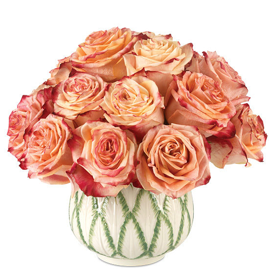 Fragrant Flower Cup Roses with vase