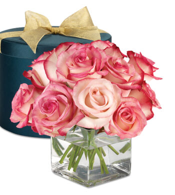 Serenity Rose Hatbox Bouquet