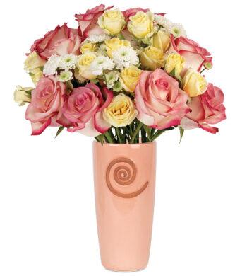 Springtime Garden Bouquet with vase