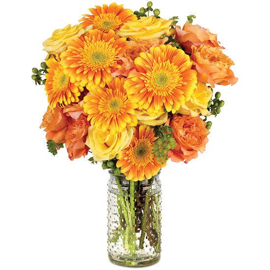 Citrus Blossom Bouquet with signature glass vase
