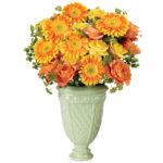 Citrus Blossom Bouquet with vase