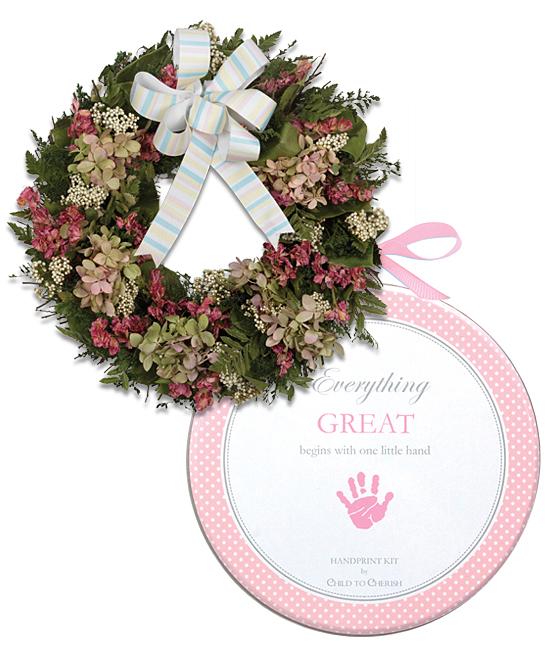 Welcome Baby Girl Wreath Calyx Flowers Inc