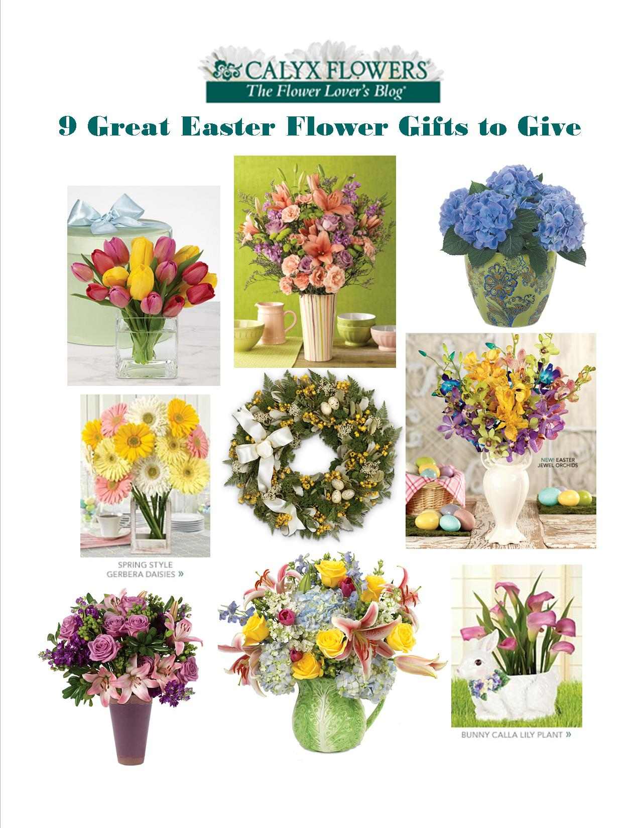 9 great flower gifts to give at easter calyx flowers inc springtime tulips hatbox bouquet shown top left set the scene with the gorgeous gift of tulips in a rainbow of colors what sets this gift apart from negle Image collections