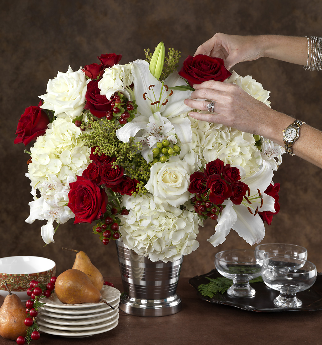 Styling a Fabulous Holiday Bouquet