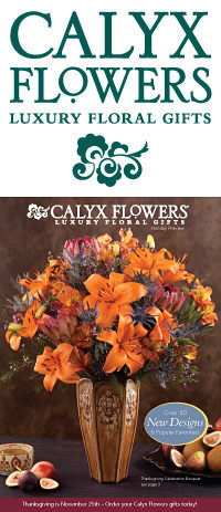 Calyx Flowers November Catalog Cover