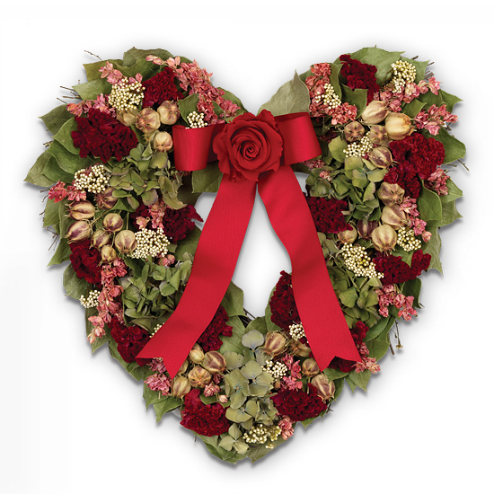 Classic Valentine's Day Heart Wreath