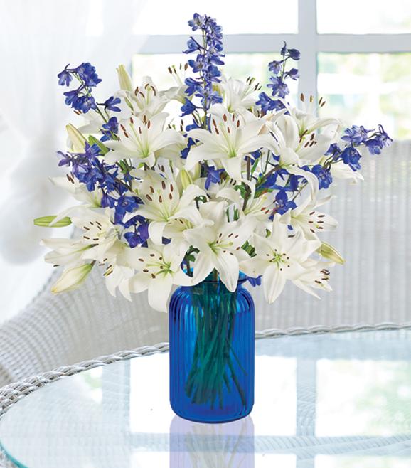 Delphinium & Lilies Bouquet