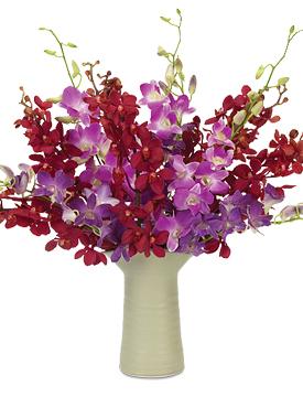 Earthen Elegance Bouquet featuring a Simon Pearce Barre vase