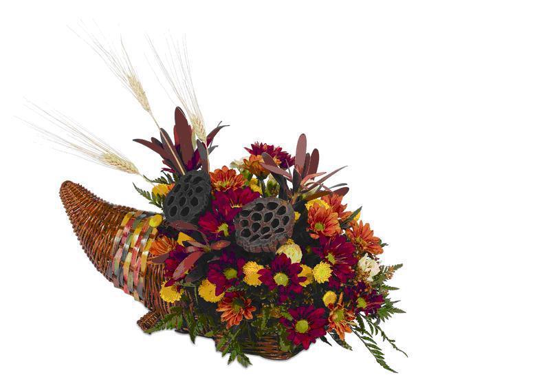 Fresh Flower Cornucopia $59.95
