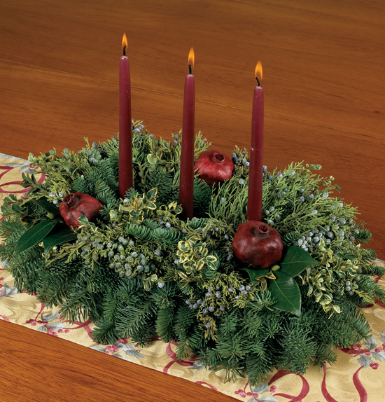 Fresh Pomegranate Centerpiece $57.95