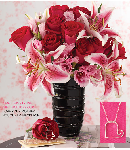 Exclusive Love Your Mother Bouquet + Necklace