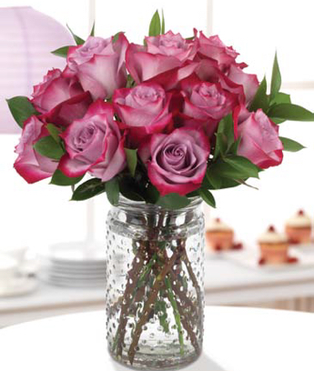 Deep Purple Roses Bouquet - The Year of Roses