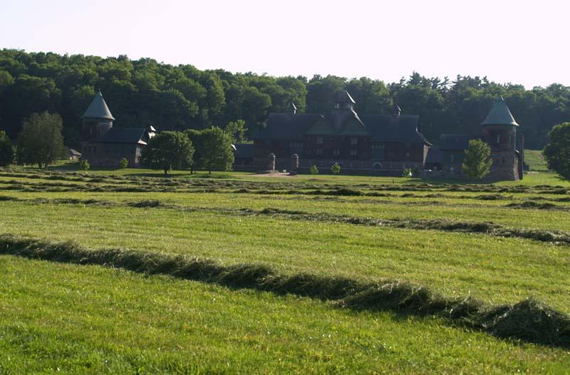 View approaching the Shelburne Farms Barn